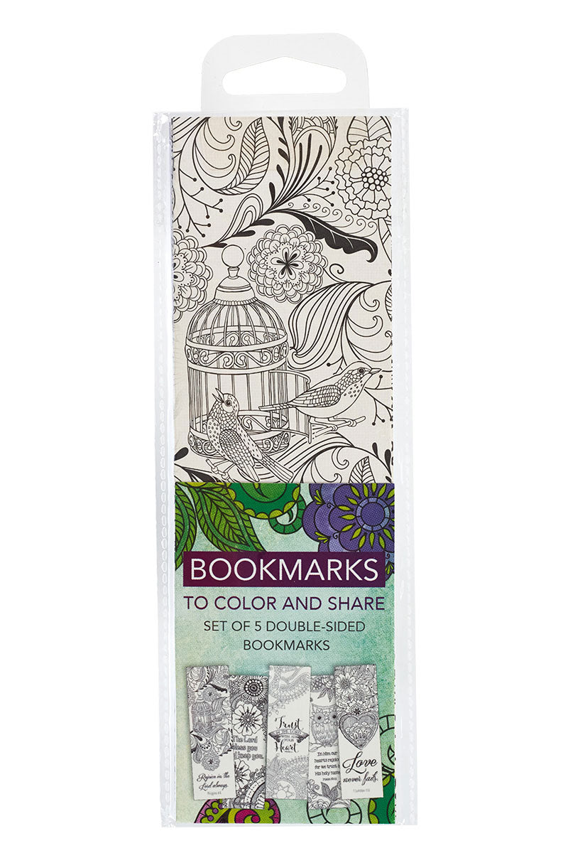 Set of 5 Creative Expressions of Faith Coloring Bookmarks