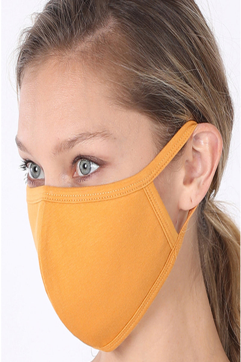 Ash Mustard Two-Layer Fashion Face Mask