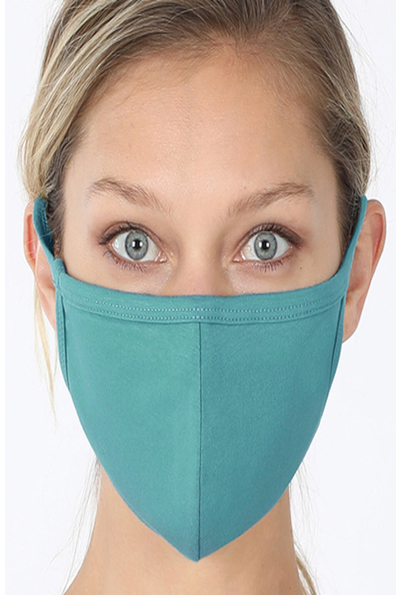 Dusty Teal Two-Layer Fashion Face Mask