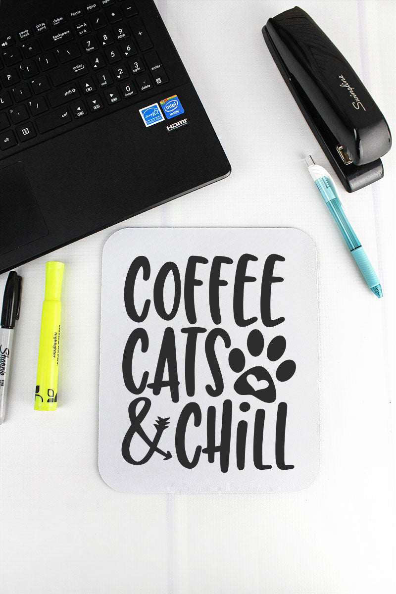 Coffee, Cats & Chill Mousepad