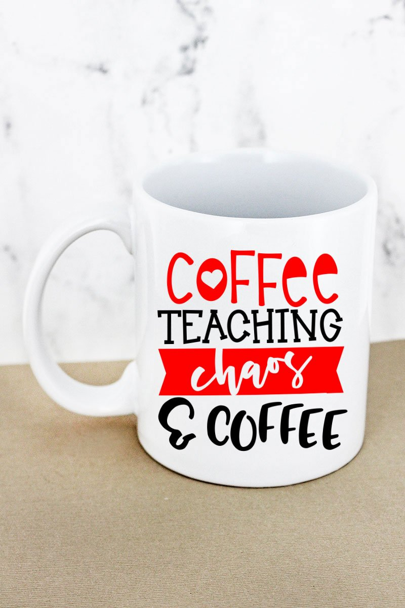Coffee Teaching Chaos Coffee White Mug