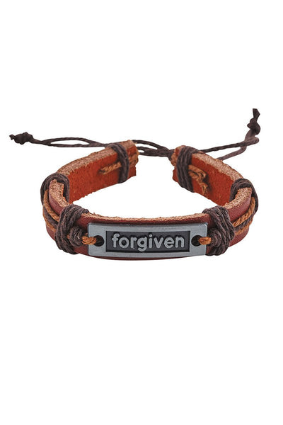 One Inspirational Word Faux Leather Bracelet - SHIPS ASSORTED