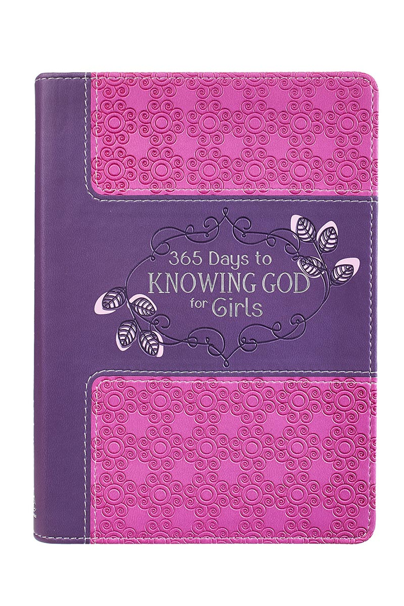 365 Days To Knowing God For Girls LuxLeather Book