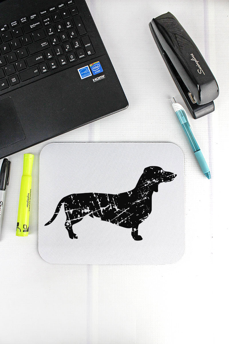 Distressed Dachshund Mousepad