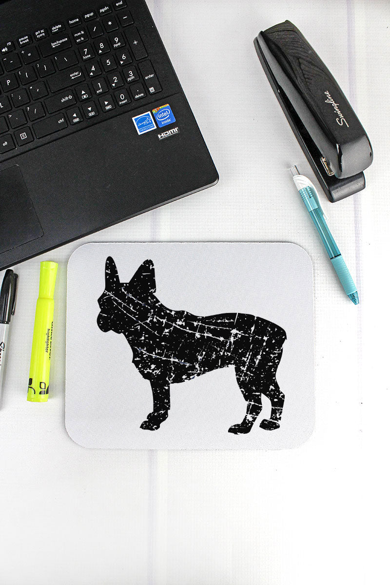 Distressed French Bulldog Mousepad