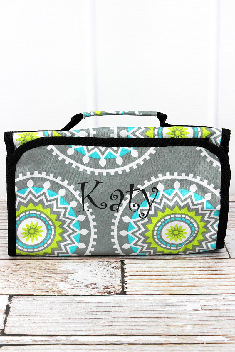 NGIL Mandala Garden Roll Up Cosmetic Bag