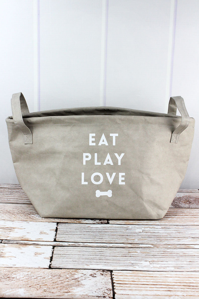 Eat Play Love Washable Paper Pet Storage Tote