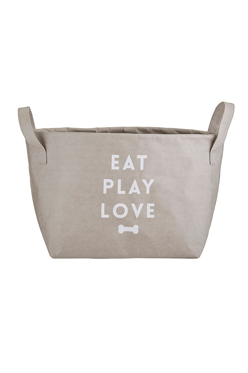 SALE! Eat Play Love Washable Paper Pet Storage Tote