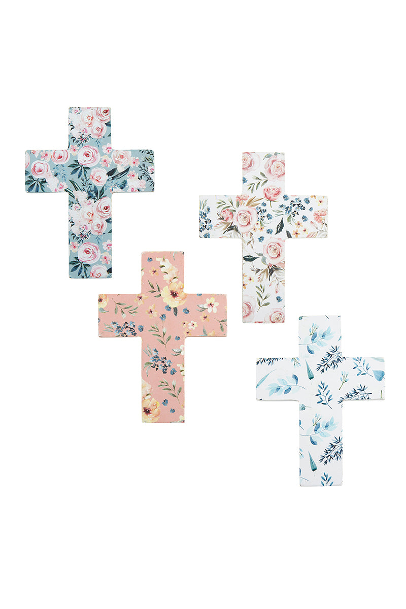 SALE! One 4 x 3 Mini Floral Cross - SHIPS ASSORTED