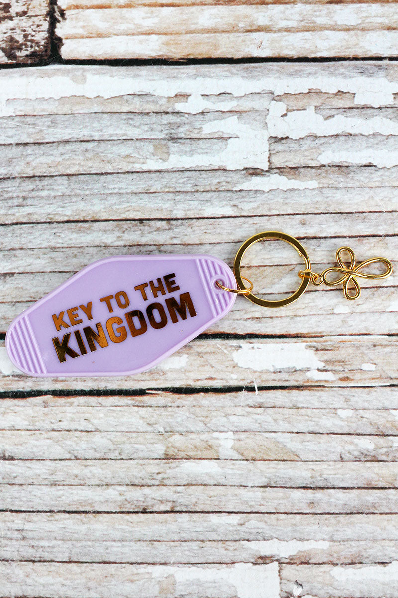 Key To The Kingdom Vintage Motel Key Tag