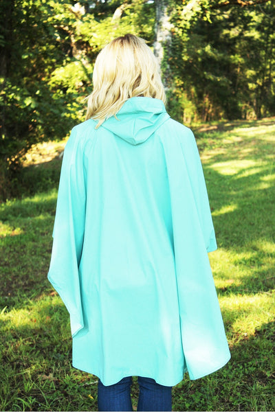DISCONTINUED BY CR - Charles River Adult Pacific Poncho, Aqua (Wholesale Pricing N/A)