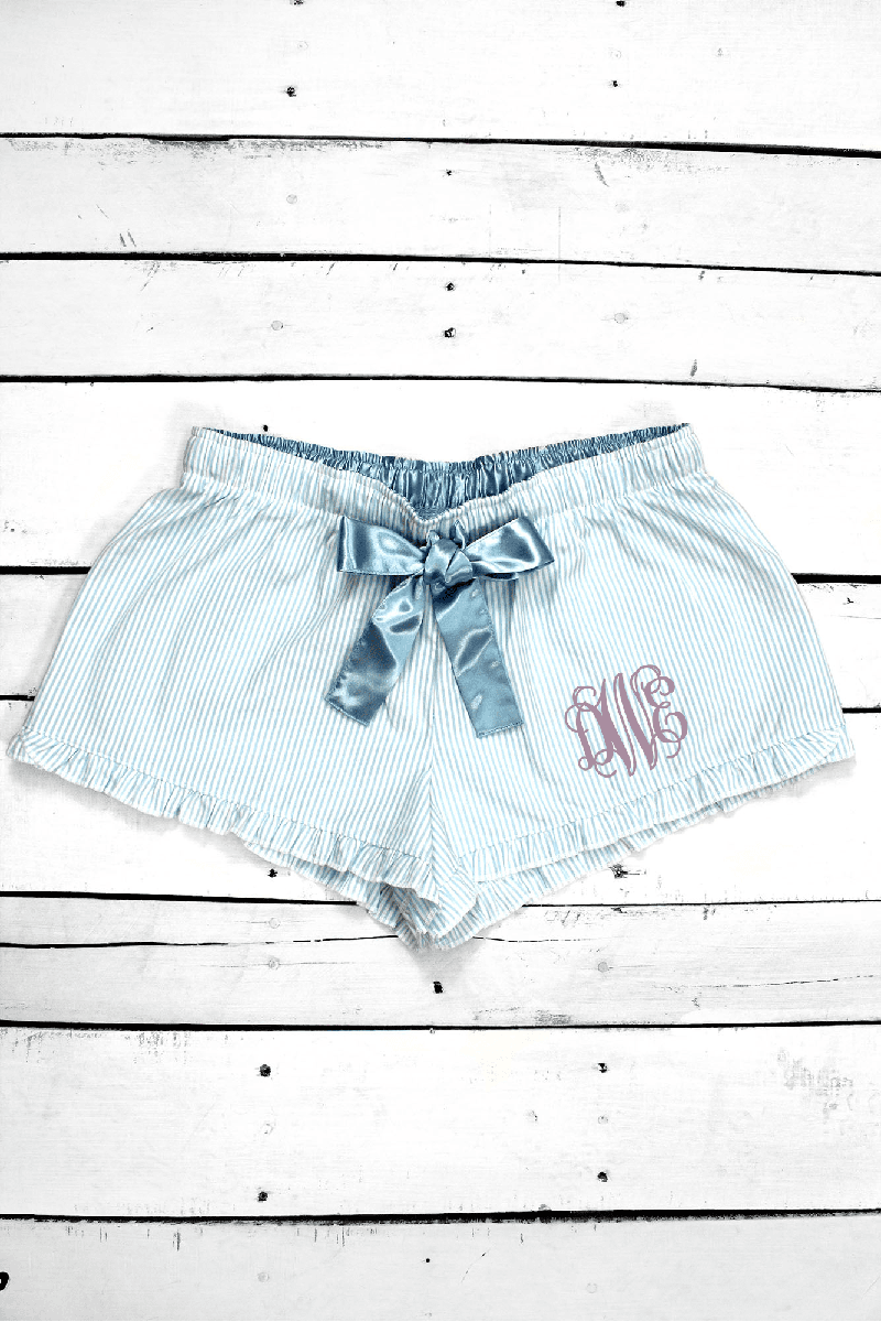 Boxercraft Set Sail Blue Seersucker VIP Boxer *Personalize It