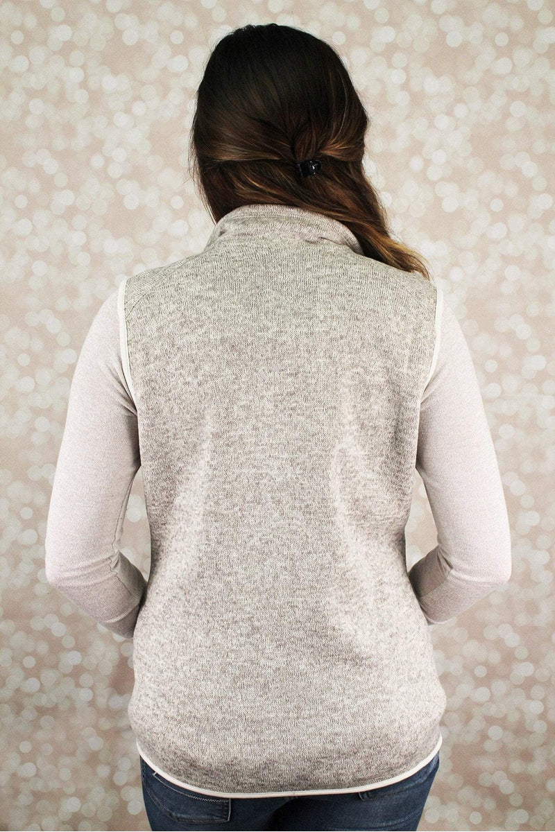 Charles River Women's Pacific Heathered Vest, Oatmeal Heather #5722 *Personalize It (Wholesale Pricing N/A) (PLEASE ALLOW 3-5 BUSINESS DAYS. EXPEDITED SHIPPING N/A) - Wholesale Accessory Market