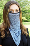 Black Crosshatch Face Mask Neck Gaiter