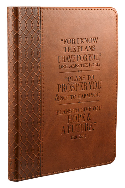 Jeremiah 29:11 Brown LuxLeather Flexcover Journal
