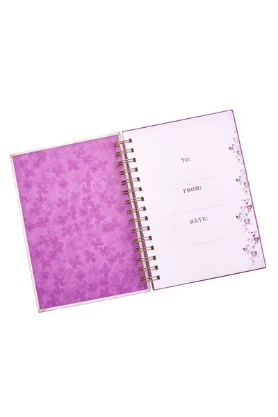 Done In Love Floral Heart Hardcover Spiral Journal
