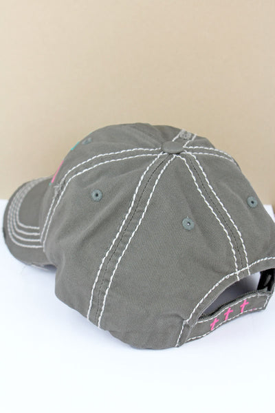 Distressed Steel Gray 'Faith Over Everything' Cap