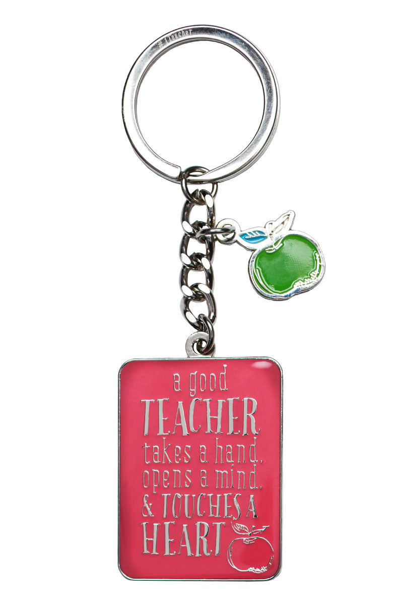 Teacher Touches A Heart Keyring in Gift Tin