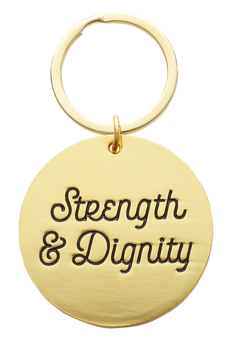 Proverbs 31:25 'Strength & Dignity' Floral Keyring in Gift Tin