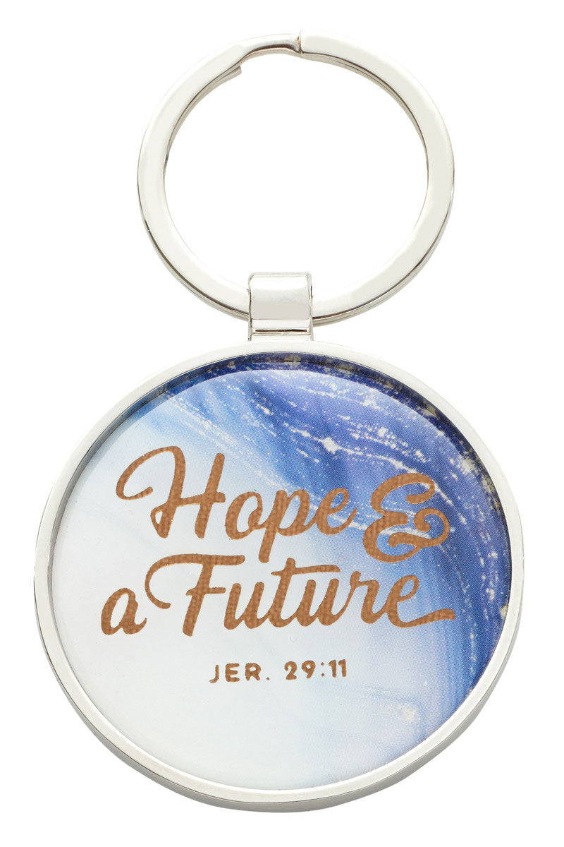 Jeremiah 29:11 'Hope & A Future' Graduation Keyring in Gift Tin