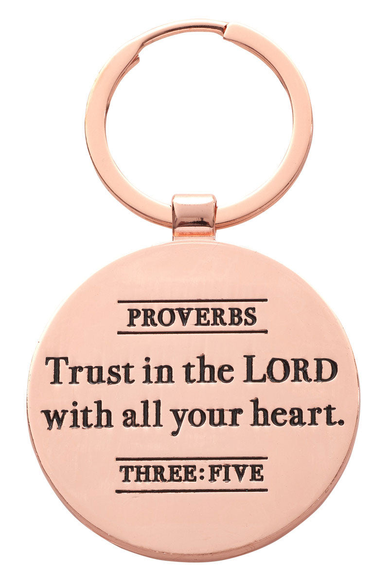 Trust In The Lord Keyring in Gift Tin