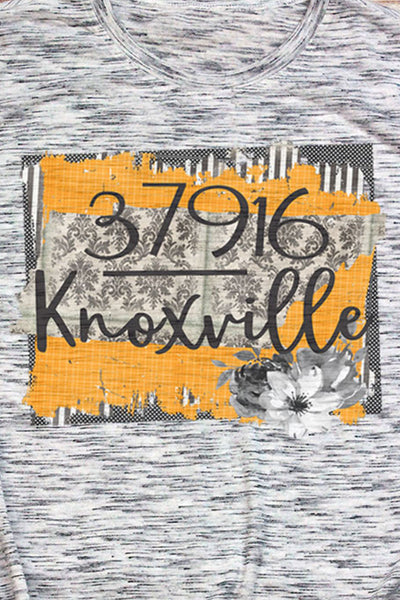 Knoxville Zip Code Unisex White Marble Short Sleeve Tee