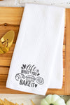 Life Is What You Bake It Waffle Kitchen Towel