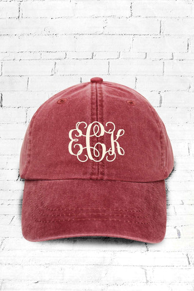 Washed Nautical Red Baseball Cap