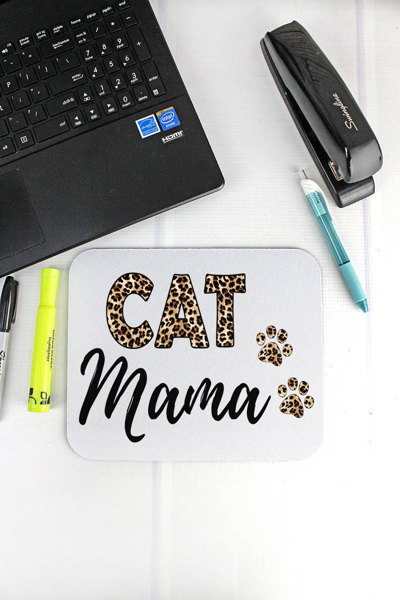 Leopard Cat Mama Mousepad