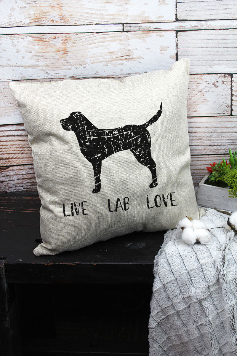 Live Lab Love Decorative Pillow Cover