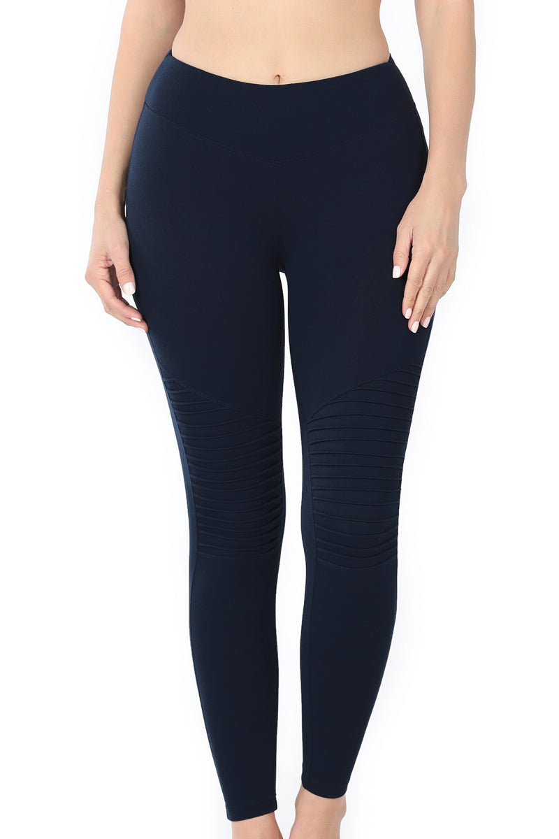 Navy Moto Butter Leggings