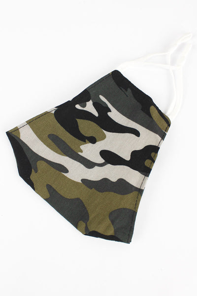 SALE! Cover Your Six Woodland Camo Two-Layer Fashion Face Mask