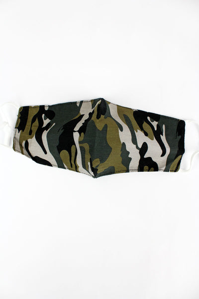 Cover Your Six Woodland Camo Two-Layer Fashion Face Mask
