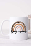 Boy Mom Rainbow White Mug