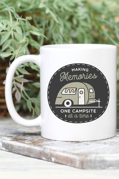 Making Memories Campsite White Mug