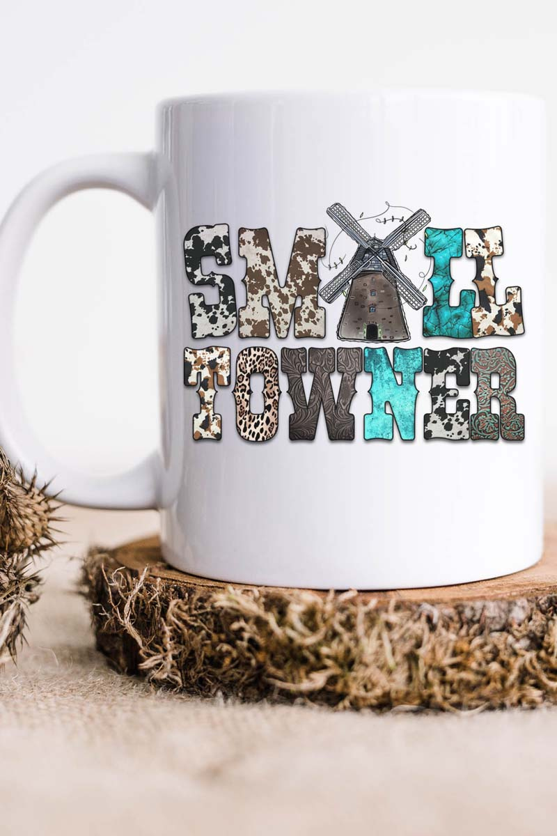 Small Towner Windmill White Mug