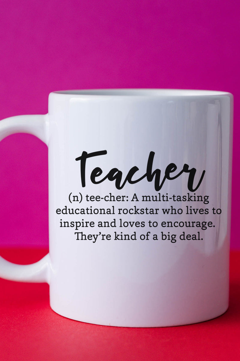 Teacher Definition White Mug