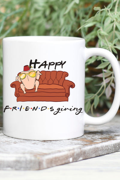 Turkey Happy Friendsgiving White Mug