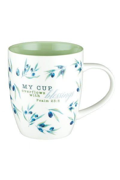 Psalm 23:5 'My Cup Overflows' Mug