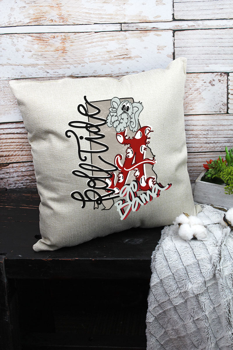 Mascot Alabama Doodle Decorative Pillow Cover