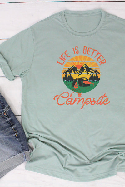 Life Is Better At The Campsite Poly/Cotton Tee
