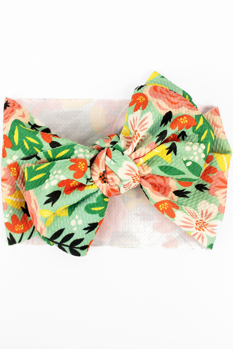 Secret Garden Big Bow Baby Headband