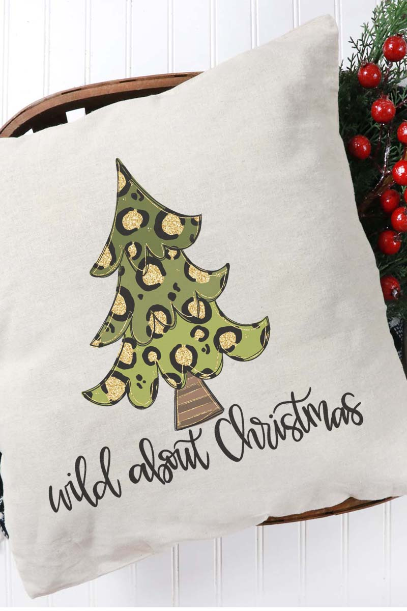 Wild About Christmas Decorative Pillow Cover