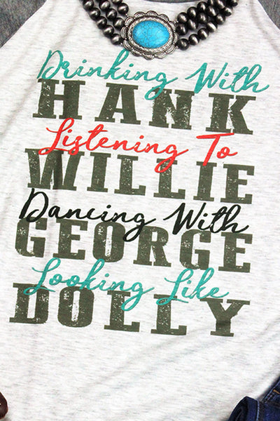 Turquoise Country Greats 3/4 Sleeve Raglan Tee