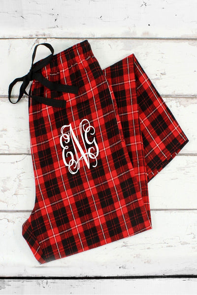 Boxercraft Red and Black Plaid Flannel Pajama Pant *Personalize It