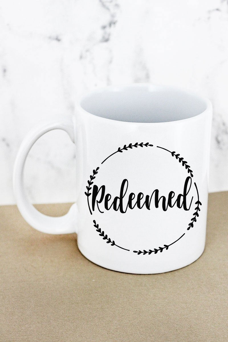 Redeemed Wreath White Mug