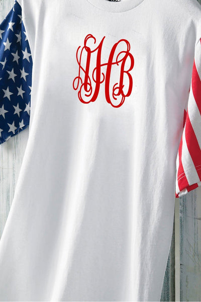 Code V Adult Stars & Stripes Tee *Personalize It