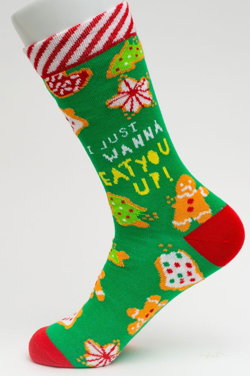 One Pair Large I Just Wanna Eat You Up Socks