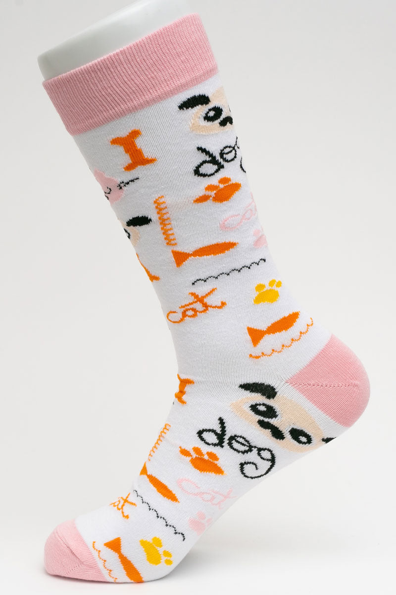 One Pair Small Cats-N-Dogs Socks