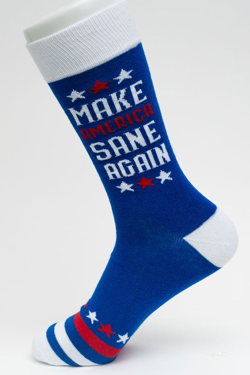 One Pair Large Make America Sane Again Socks